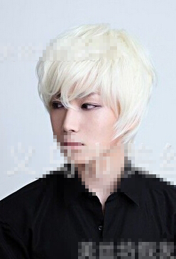 Fashion men short straight hair wig male milk white heat resistant Ladys WIGS Peluca Products(China (Mainland))