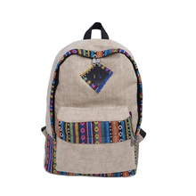 Fashion Brand Backpack Women Large Capacity Waterproof Canvas Travel Backpacking Backpacks New 2016 National Printing School Bag(China (Mainland))