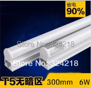 t5 led tube light 6w explosion-proof energy-saving led fluorescent lamp 30cm t5 3014smd T5 lamp 12v or AC85-260v free shipping(China (Mainland))