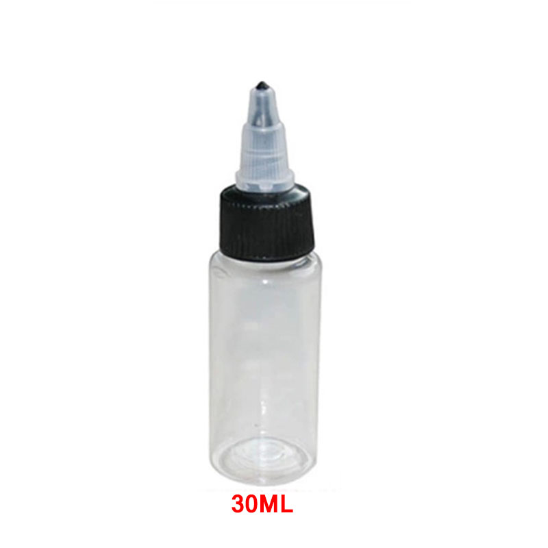 30ML Twist Cap Empty Plastic Transparent Tattoo Ink Pigment Clear Bottle Supplies Tattoo Pigment Ink Bottle(China (Mainland))