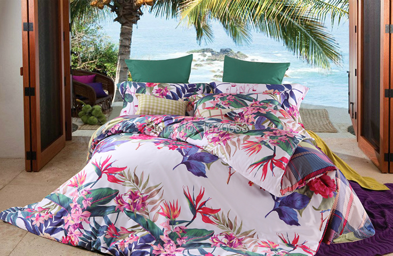 achetez en gros couette imprim e tropicale couvre en ligne des grossistes couette imprim e. Black Bedroom Furniture Sets. Home Design Ideas