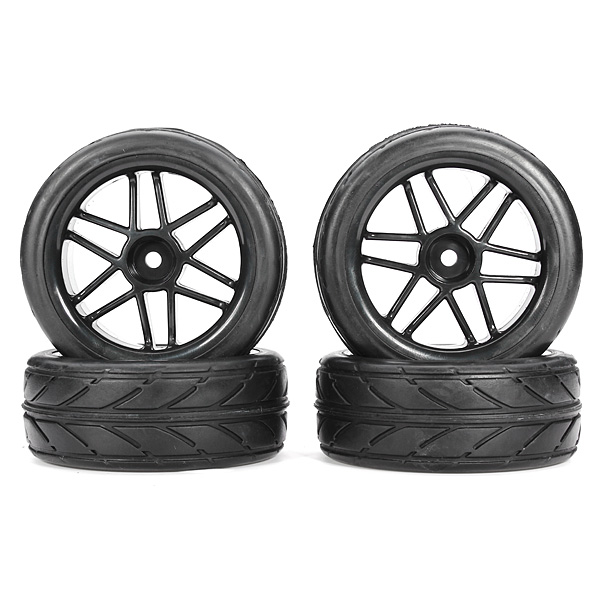 Hot Sale High Quality 4 Pcs Black 1:10 RC Car Buggy Truck Truggy Short Course Rally RC Car Tyres(China (Mainland))