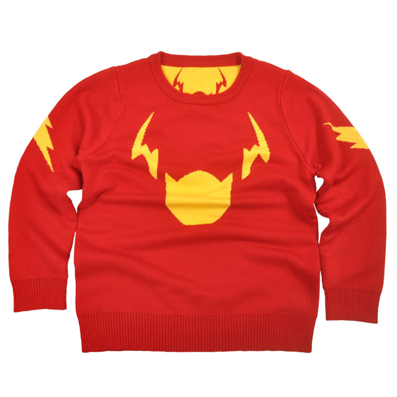 Children kids sweater clothing the flash minor superhero style knitted sports girls boys pullover(China (Mainland))