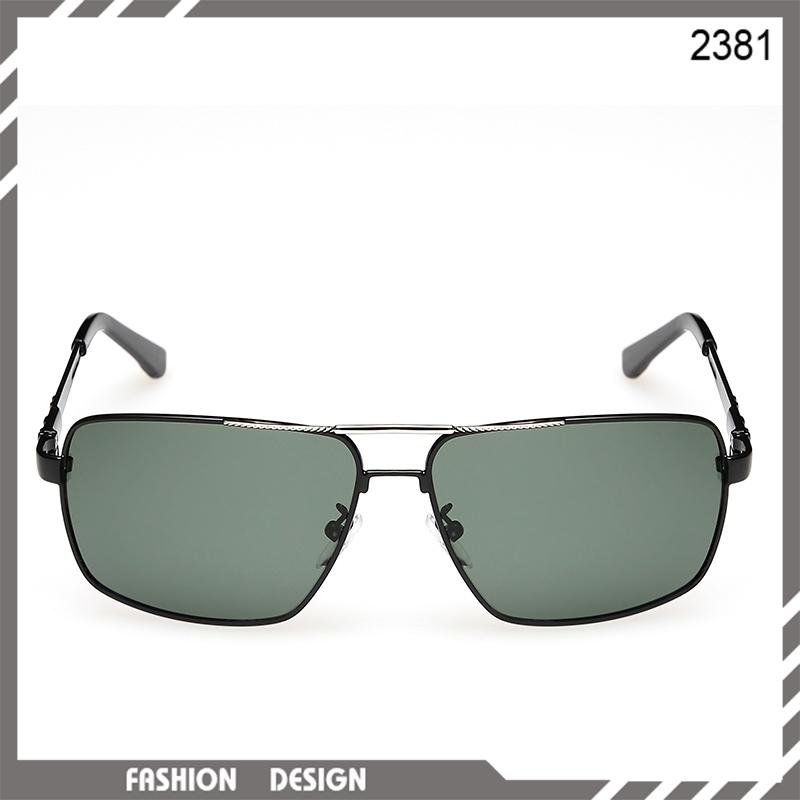 Hot sale 2015 Fashion luxury metal framed mens polarized prescription sunglasses Letter P men driving glasses free shipping(China (Mainland))