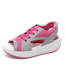 2016 Fashion Summer Women's Sandals Casual Sport Mesh Breathable Women Shoes Sanglaide Wedges Sandals Platform Sandalias MH