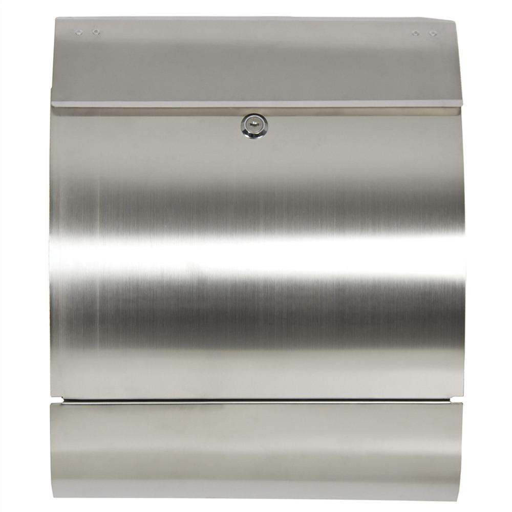 Stainless Steel Mailbox Postal Box Locking Mail Box Letterbox Modern Design New FG9548(China (Mainland))