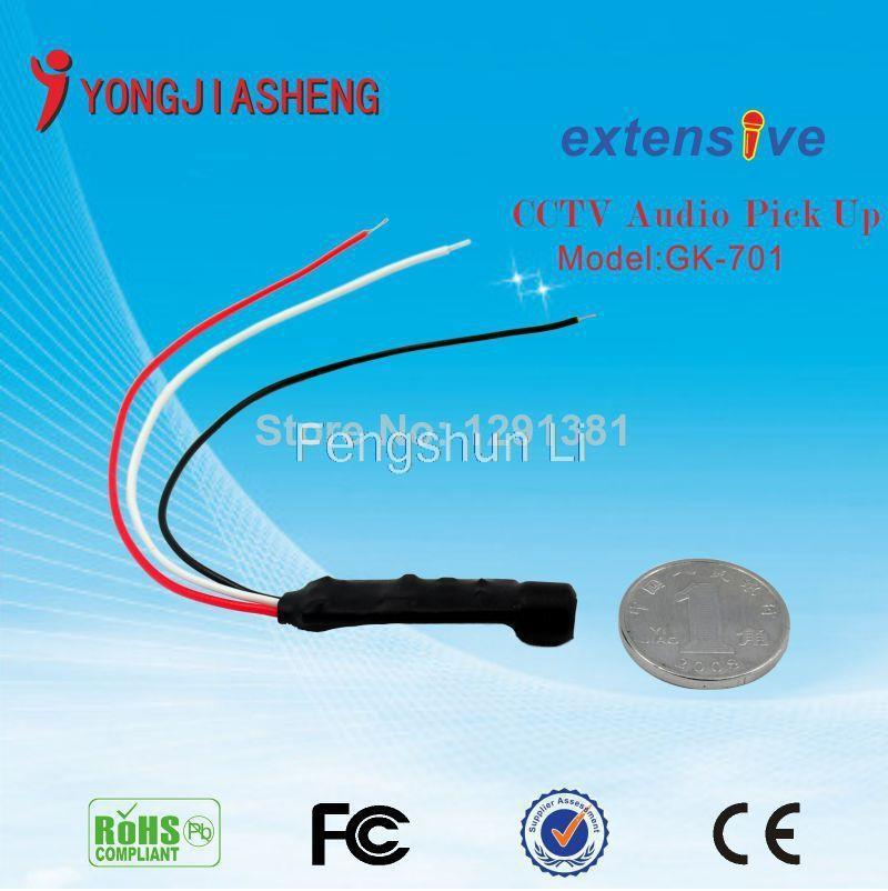 free shipping Mini mic Sound Monitor High Sensitive Audio Pickup Device Tiny Spy Security Camera mini CCTV mic Microphone(China (Mainland))