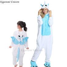 Meninos Meninas Conjuntos de Pijama Kigurumi Unicórnio Pijamas Para As Mulheres Homens Adultos Onesie Animal Panda Ponto Pijamas Cosplay Pijamas Crianças(China)