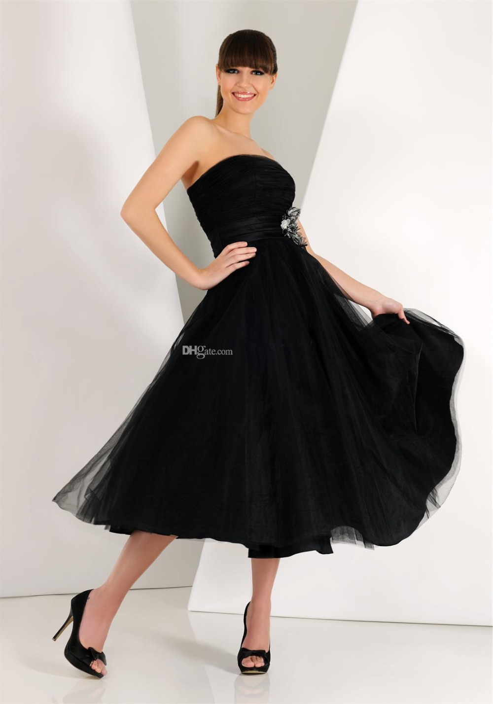Cheap Black Strapless Dress