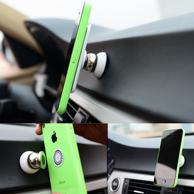 Гаджет  Automobiles & Motorcycles mini Universal Magnetic 360 Degrees car Vehicle Mounts Holders For iphone samsung mobile cell phone None Автомобили и Мотоциклы