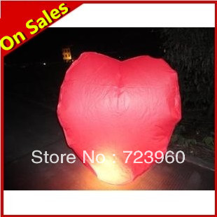 10 pcs / Lot 1.6M Kongming Chinese lantern wishing lamp flying paper sky lanterns for sale glow in the dark balloons wholesale(China (Mainland))