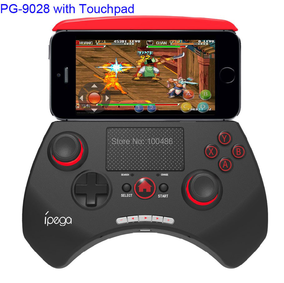 Ipega PG-9028 Bluetooth Wireless 5.5Inch Game Controller Gamepad Joystick 2.0Inch Touchpad For iPhone Samsung Android/ios/PC(China (Mainland))