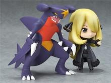 Hot 10CM Pokemon Action Figure Toy font b Anime b font Nendoroid Pokemon Figures Cynthia Garchomp