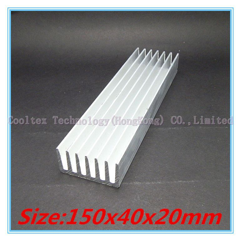 (10pcs/lot) High quality 150x40x20mm Aluminum heat sink radiator for chip LED Electronic cooling<br><br>Aliexpress
