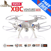 SYMA X8C X8 2.4G 4CH 6Axis Professional RC Drone Quadcopter With 2MP Wide Angle HD Camera Remote Control Helicopter(China (Mainland))