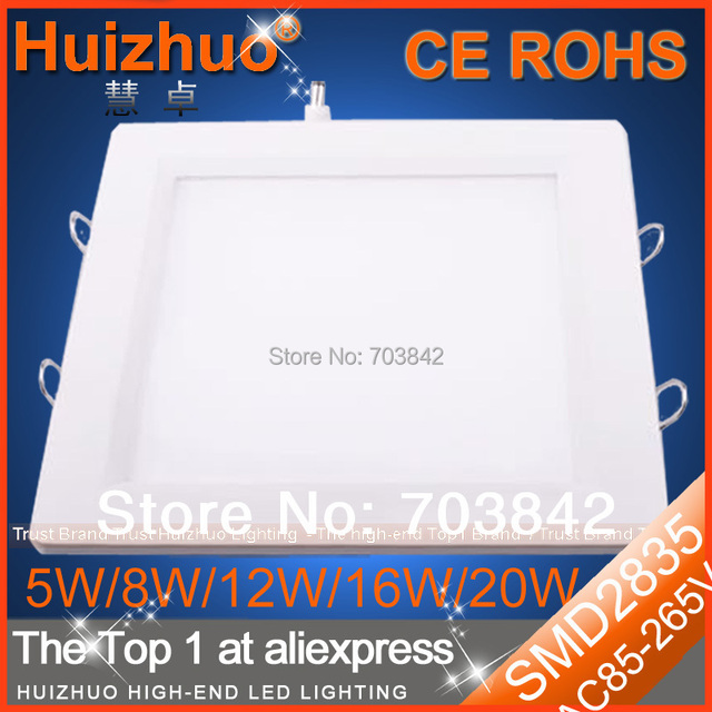[Huizhuo Lighting]High Quality SMD2835 5W/8W/12W/16W/20W Recessed LED Downlight Square LED Kitchen Panel Light
