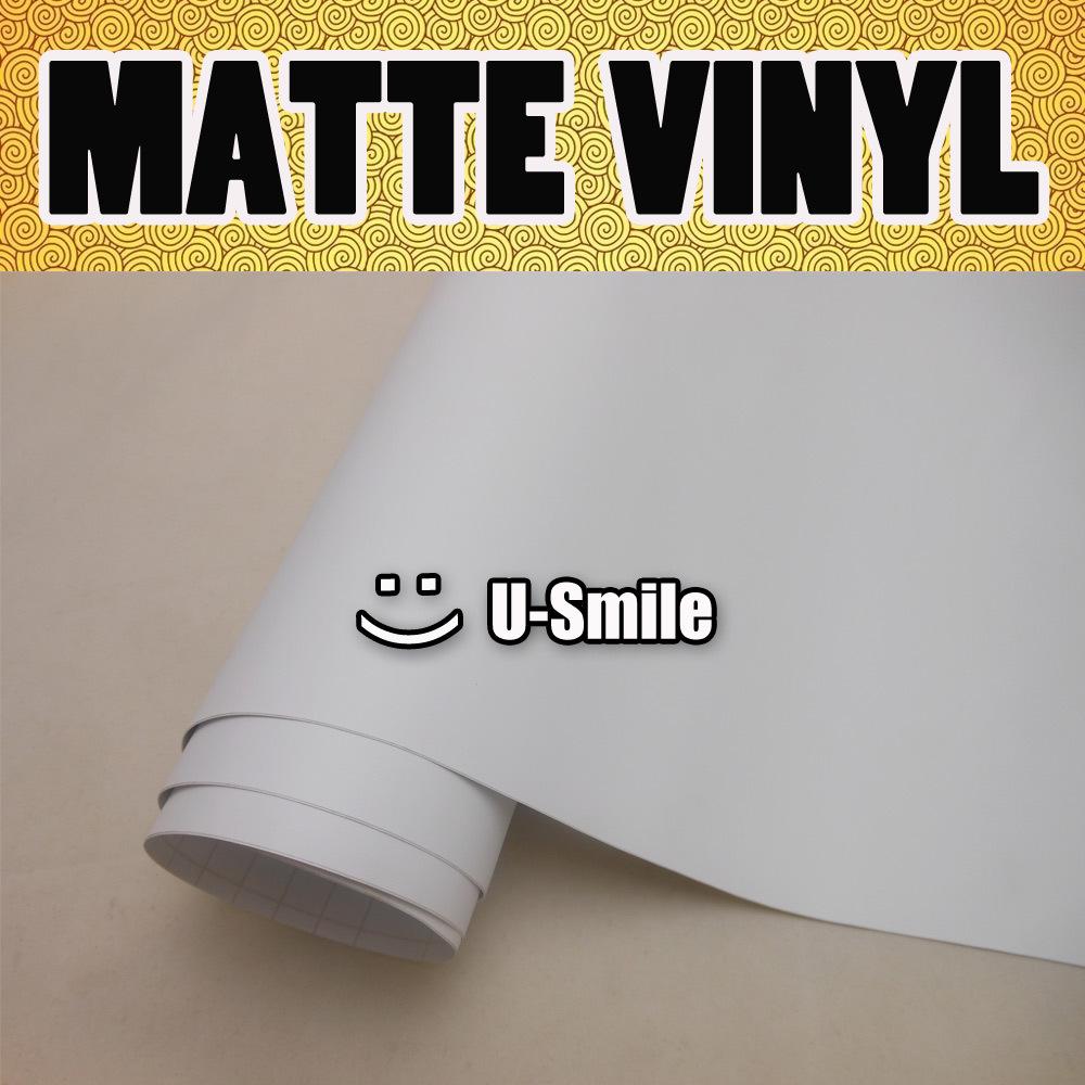 White Matte Vinyl Car Film Matte White Wrap Matt White Car
