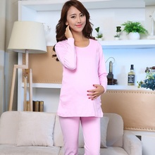 Maternity clothings cotton Maternity Sleepwear Breastfeeding pajamas Nightwear Feeding Pregnant Pajamas Set maternity underwear