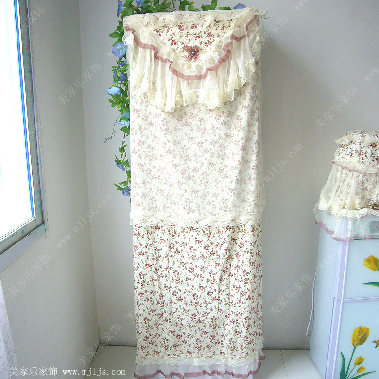 Mona rustic the rose lace cloth cabinet air conditioner cover vertical packaged air conditioning units dust cover(China (Mainland))