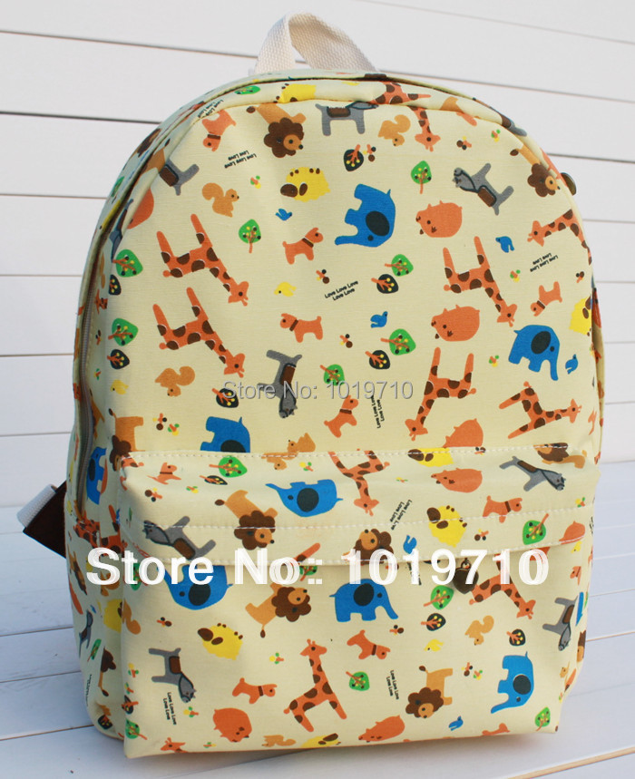 Free shipping small animal park academy fresh air bags computershoulder bag canvas Korean female bag(China (Mainland))