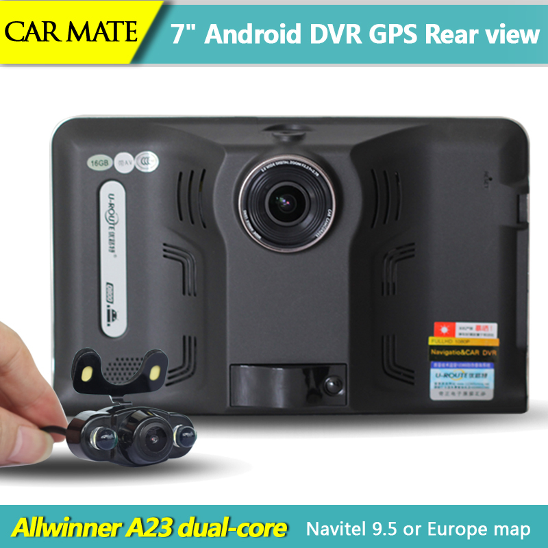 New 7 inch Android Car GPS Navigation rear view Reversing camera 1080P Car dvrs Truck vehicle gps AVIN FM Navitel Or Europe map(China (Mainland))