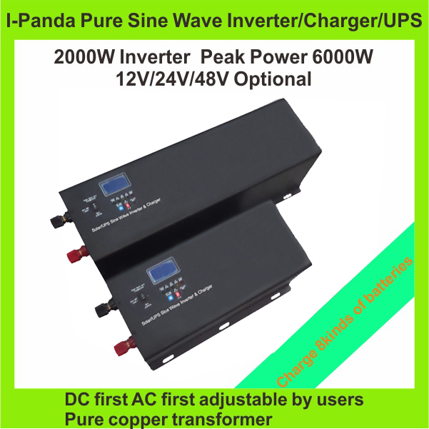 Low shipping to USA and EU Home use DC to AC Off-grid solar power inverter I-P-TPI-2000W peak power 6000W(China (Mainland))