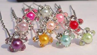 200pcs/lot Free Shipping Crystal Small Pearl Hair Pins, Wedding Party Hair Accessories, Bride Bridesmaid Hair Clips