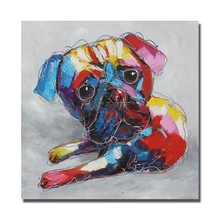 Buy Free Abstract Dog Wall Painting Modern Decoration Wall Art Bedroom Decor Pictures High Oil Painting for $10.35 in AliExpress store