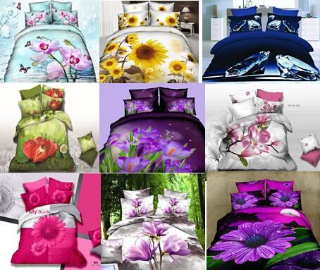 Purple yellow bedding bed sheet set bedclothes duvet cover set bedding