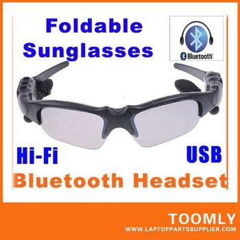 Hot Sale HIFI Bluetooth Headset Sunglasses for Cell phone Wireless Earphone Headphone free shipping