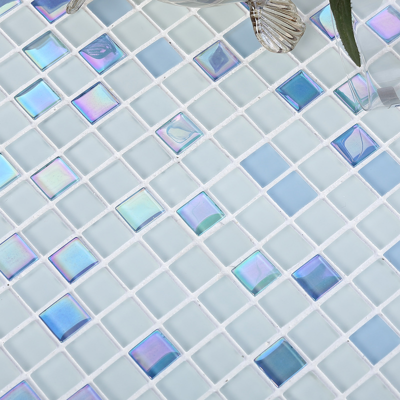 3 colors available blue pink beige stainless crystal glass mosaic shining finished bathroom shower tiles bedroom wall tiles<br><br>Aliexpress