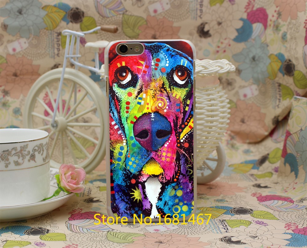 basset hound Hard Clear Skin Transparent For iPhone 7 7 Plus 6 6s 6 plus 6+ Case Cover