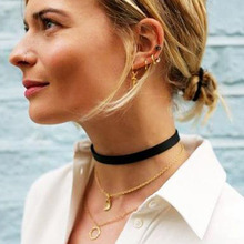 Buy 2016 2pcs Punk Chokers Black Velvet Choker Necklace tattoo choker Necklaces Women Chocker collares mujer Collier ras de cou for $1.03 in AliExpress store