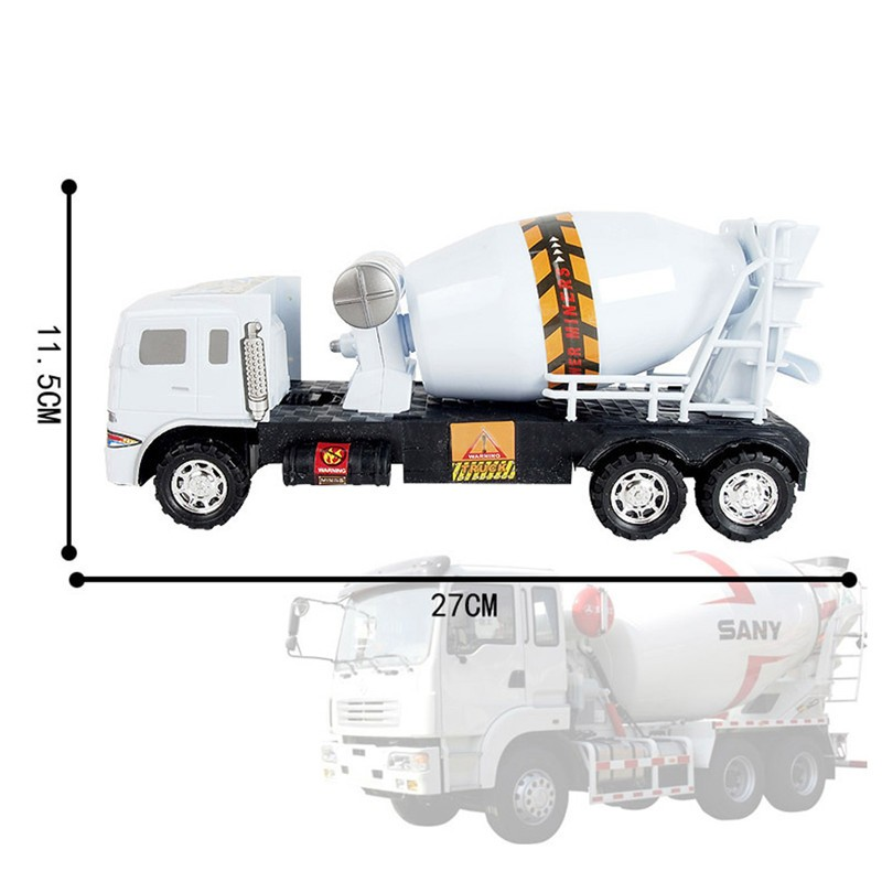 Boys Alloy Engineering Automobile 6 Wheel Cement Mixer Scania Truck Rotating Toy Automobile Scale Fashions Children Toys