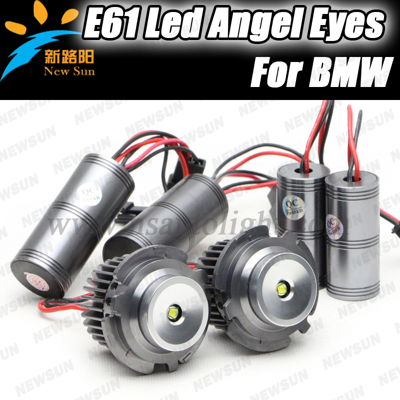 Newest design E61 E60 led marker angel eyes car headlight for BMW 525d 525i 525xd 525xi 530d 530i 530xd 530xi 535d 550i M5<br><br>Aliexpress