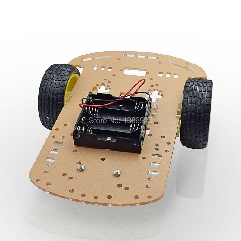 Оптовая продажа Новый двигатель умный робот шасси автомобиля Комплект Скорость 1 (2)