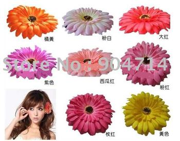 wholesale African daisy flower headpin/flower BB hair rings/Bags&clothing Accessories/ Artificial flowers/8 color/size D10cm
