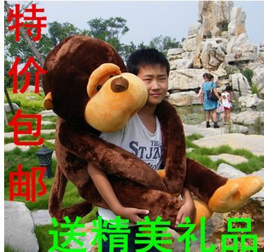 New fashion Plush Toys stuffed monkey toy 80cm size soft toy wholesale pice toy free shipping mty1986 Valentine's Day gift(China (Mainland))