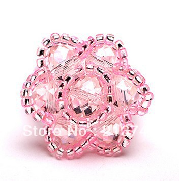Free Shipping!!! 2013 New Crystal Ring  pink  The Rose  Fashion Jewelry Pure Manual Weaving Fashion Rings   Gift All code<br><br>Aliexpress