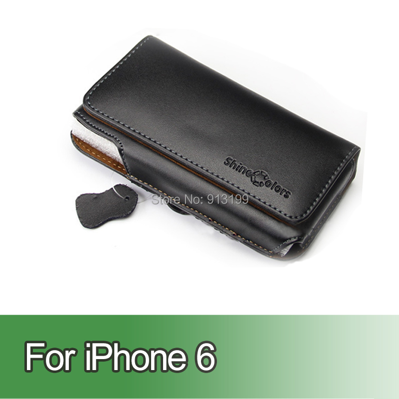 Genuine Flip Leather Case Pouch Holster Belt Clip Cover Apple iPhone 6 4.7 inch Mobile Phone - E-online store