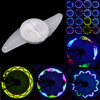 New RGB 14 LED 30 Patterns Colorful Mountain Road MTB Bicycle Bike Cycling Wheel Spoke Light Double Sided Lamp