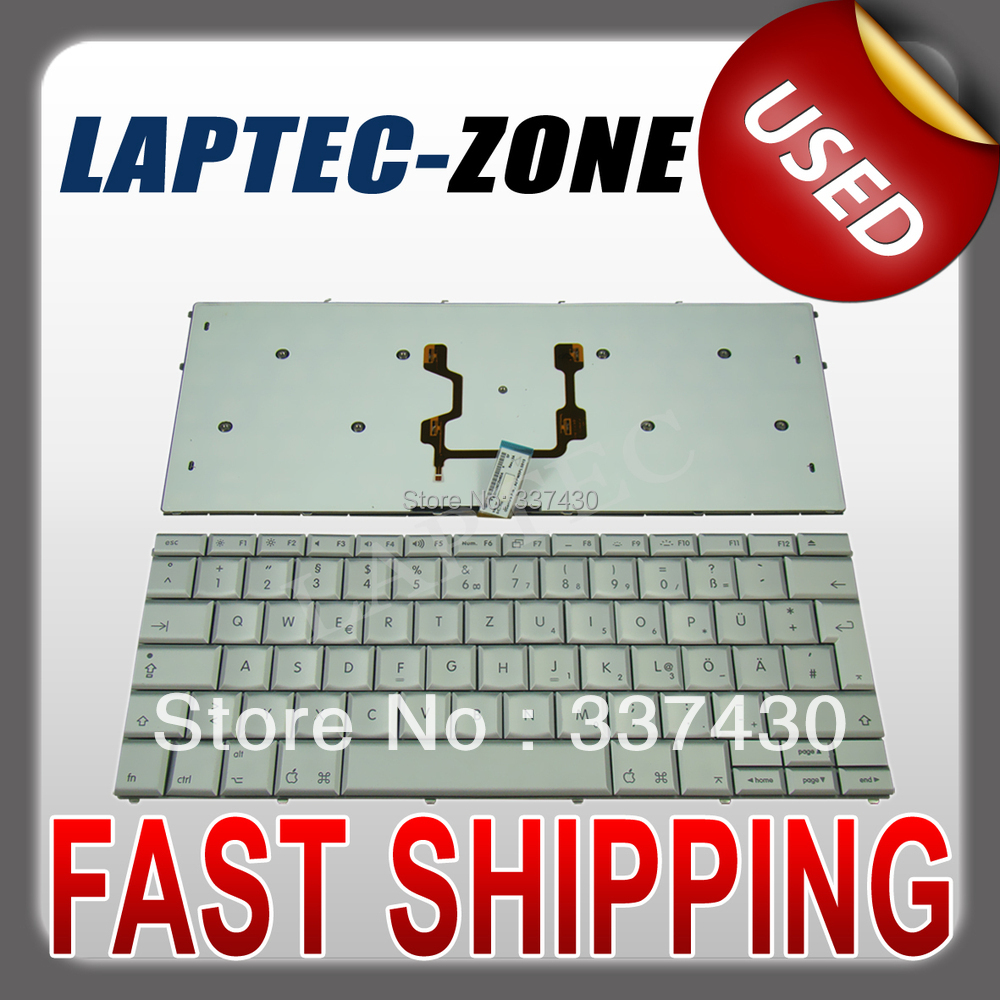 "TESTED LAPTOP KEYBOARD FITS MacBook Pro 17"" A1261 German Keyboard GR Deutsch Silver(China (Mainland))"