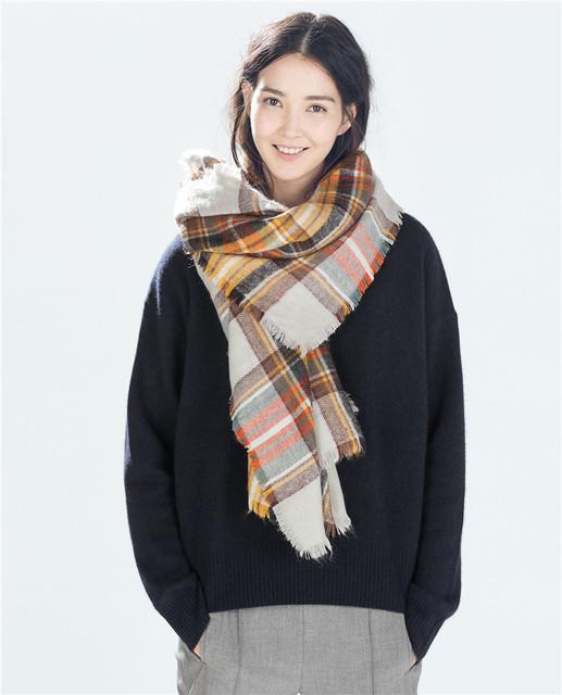 Платье-а женщины шарф зимы 2016 полосой и плед шарф новинка унисекс акриловая основная шали женские платки большой размер 200 * 85 см