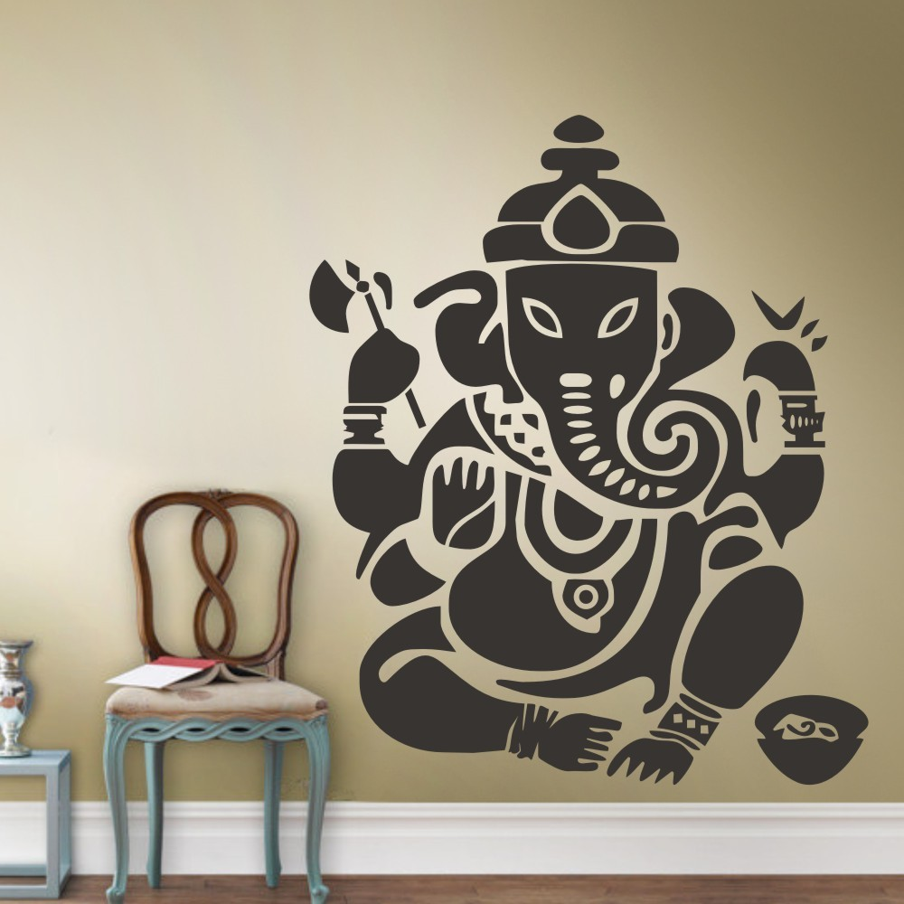 wall decal art decor sticker ganesh buddhism india indian namaste