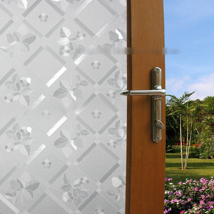 100*45cm PVC Privacy Frost Home Bedroom Bathroom Glass Frosted Privacy self adhesive Window Film 60cm x 300cm Free Shipping(China (Mainland))