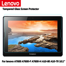"""For Lenovo tab A7600 A7600-F A7600-H A10-70 A10-80 10.1"""" flatbed Tempered Glass Screen Protector 2.5 9h Safety Protective Film(China (Mainland))"""
