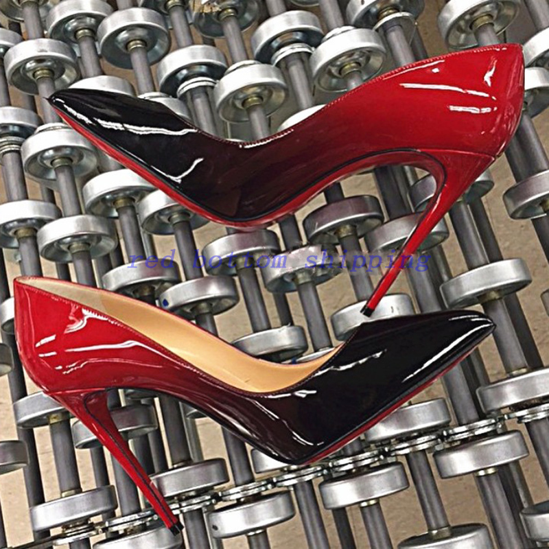 2016 Women Pumps Red Bottom High Heels Shoes Woman Pointed Toe High Heels Sexy Red Bottoms Wedding Shoes Heels Womens Shoes(China (Mainland))