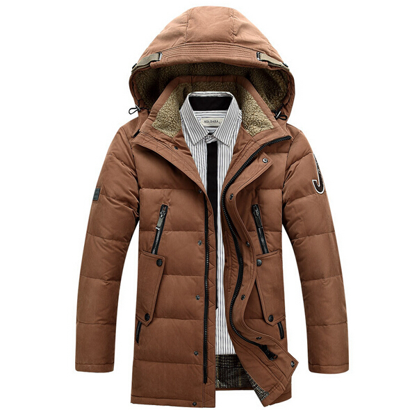 2015 New Fashion Men Winter Winter Down Jacket Withe Duck Down Jackets Parkas Solid Outdoor Warm
