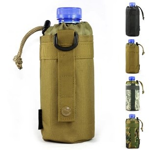 Molle water bottle outdoor kettle set field tactical pocket accessories small carrier holder bag best selling hit hot product(China (Mainland))