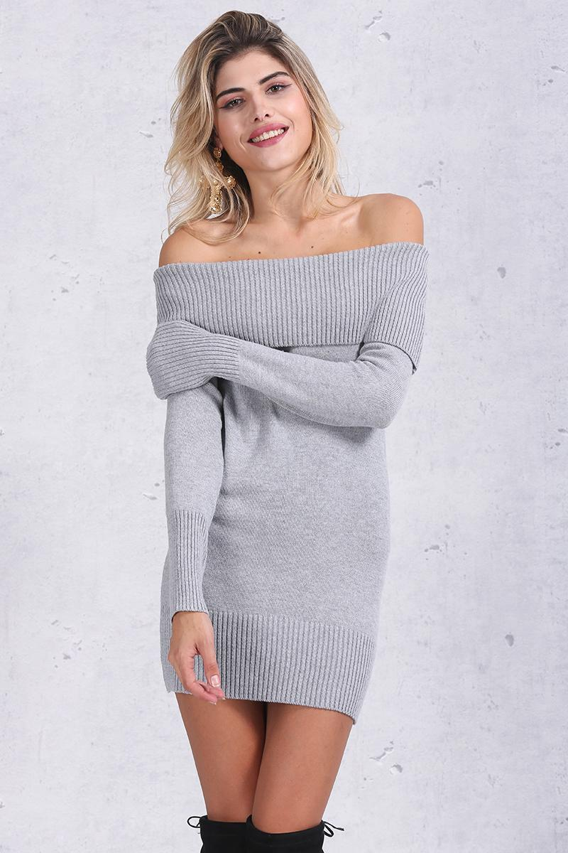 528ffc310f3 Detail Feedback Questions about Simplee Winter off shoulder knitted ...